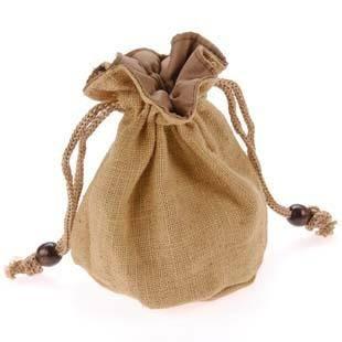 编码F010,黄麻礼品袋